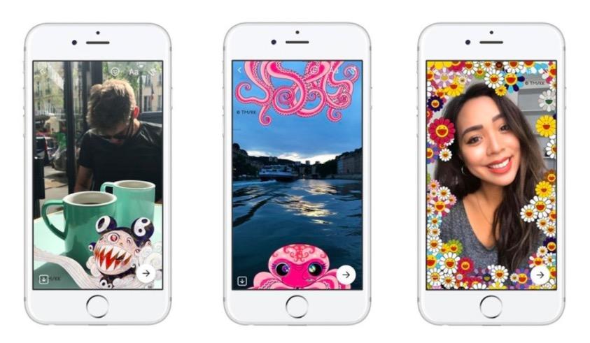 村上隆与&Facebook Messenger:推超炫特效滤镜