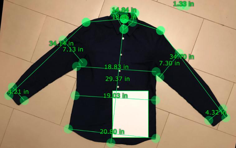 照片就能通过AI测量尺寸,线上也能定制专属你的衣服