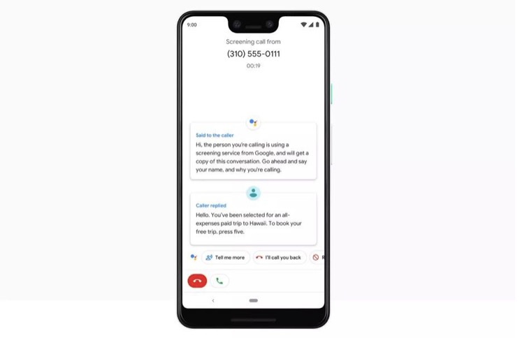 谷歌的像素呼叫屏幕功能已经作为测试版进入加拿大