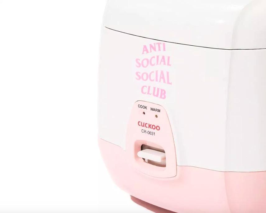Anti Social Social Club x Cuckoo 联名家用电饭煲